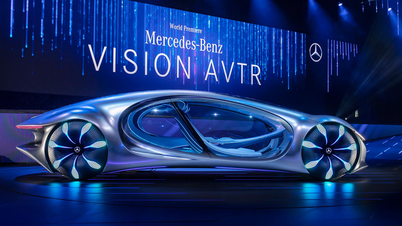 Mercedes-Benz inovou e surpreendeu mostrando o conceito do Vision AVTR. -  André Veículos